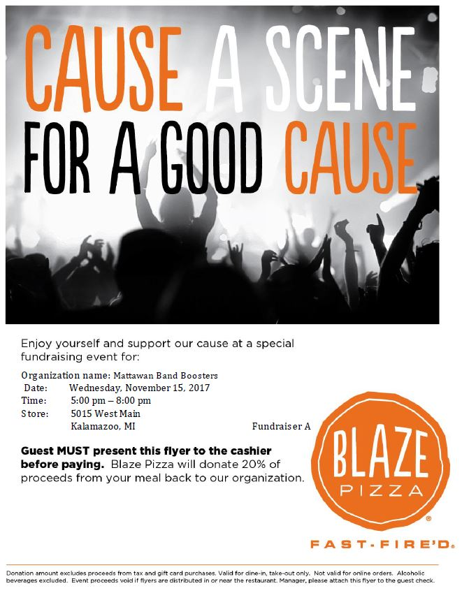 Fundraising Flyer Kalamazoo  Mattawan Bands